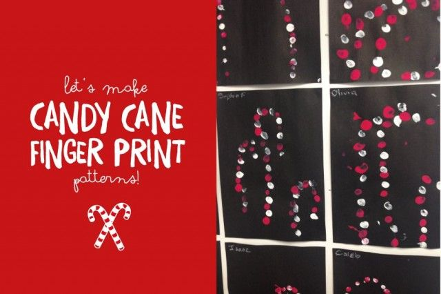 Candy Cane finger print patterns