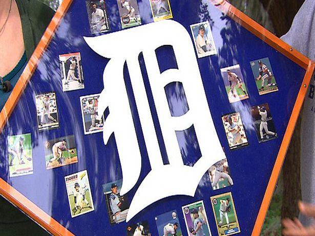Baseball card display