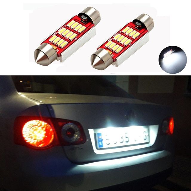 For VW Passat B5 B6 Xenon White LED Number Plate License Light Bulbs Upgrade