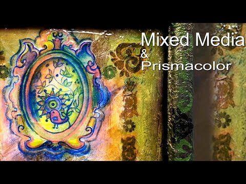 Zeichnen mit Prismacolor & Mixed Media - YouTube