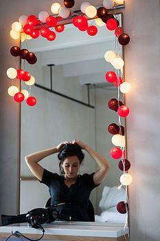 Cotton Ball String Lights sister