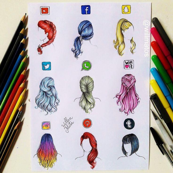 #cabelos redes sociais #youtube #facebook #snapchat #twitter #WhatsApp