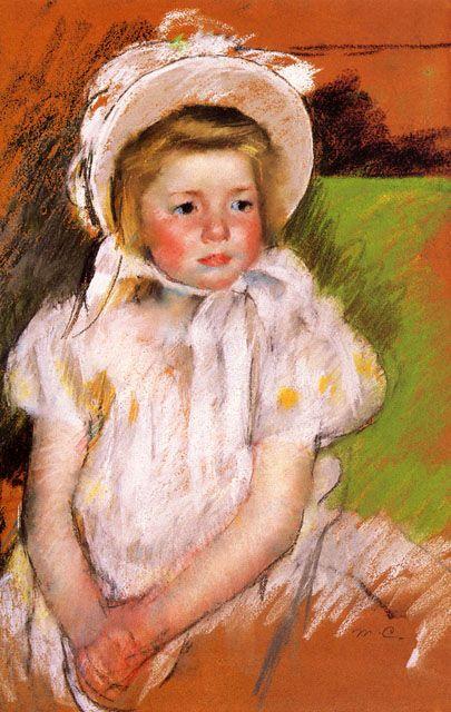 Somone In A White Bonnet 1901 By Mary Cassatt McNay Art Museum San Antonio TX US