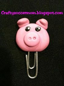 Crafty Soccer Mom: Polymer Clay Paper Clip                                                                                                                                                                                 More