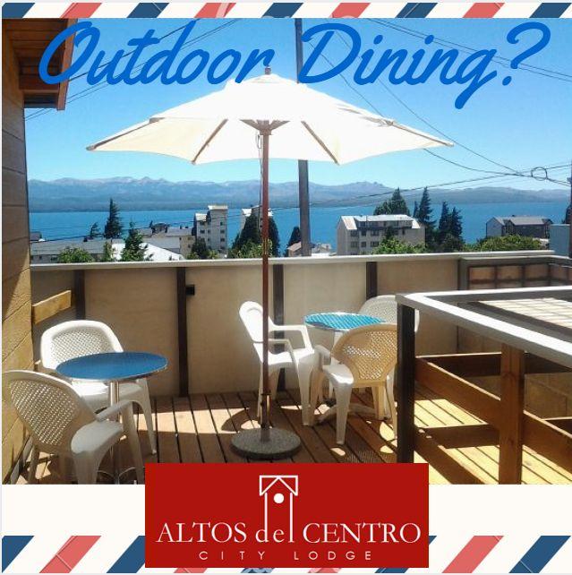 Outdoor dining, San Carlos de #Bariloche, Altos del #Centro, #City #lodge