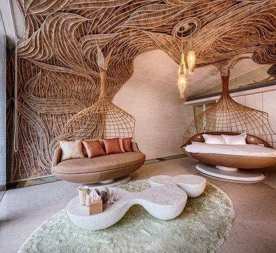 outside seating?  The Siam Villa, by Thai designer Eggarat Wongcharit, at the Iniala Beach House resort in Phuket, Thailand.
