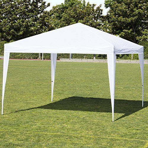 EZ Pop Up Patio Canopy Parties Tent Durable 10X10 With Carrying Case Steel Frame #EZPopUpPatioCanopyPartiesTentDurable10X10