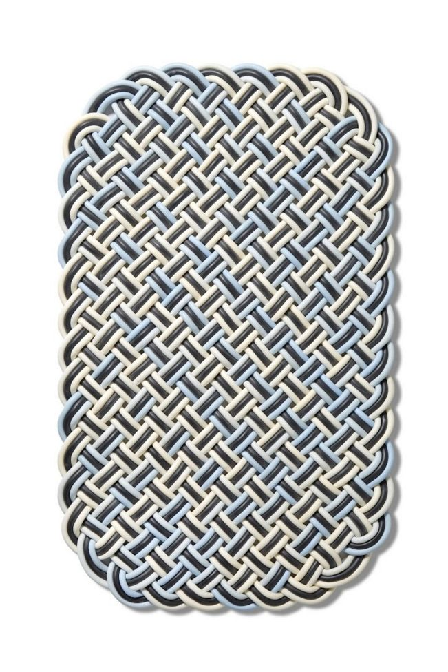 Shore Rug, Basket Weave, Cord, Knot, Texture, Woven, Soft,