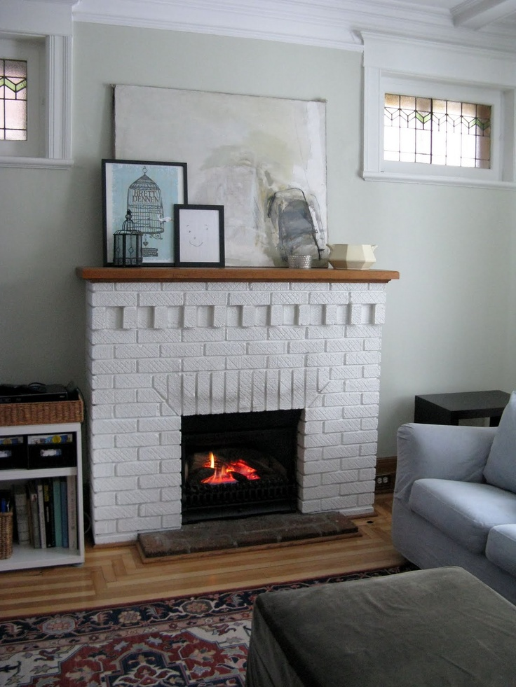 Fireplace Design painting fireplace white : 78 best Painted White Brick Fireplaces images on Pinterest