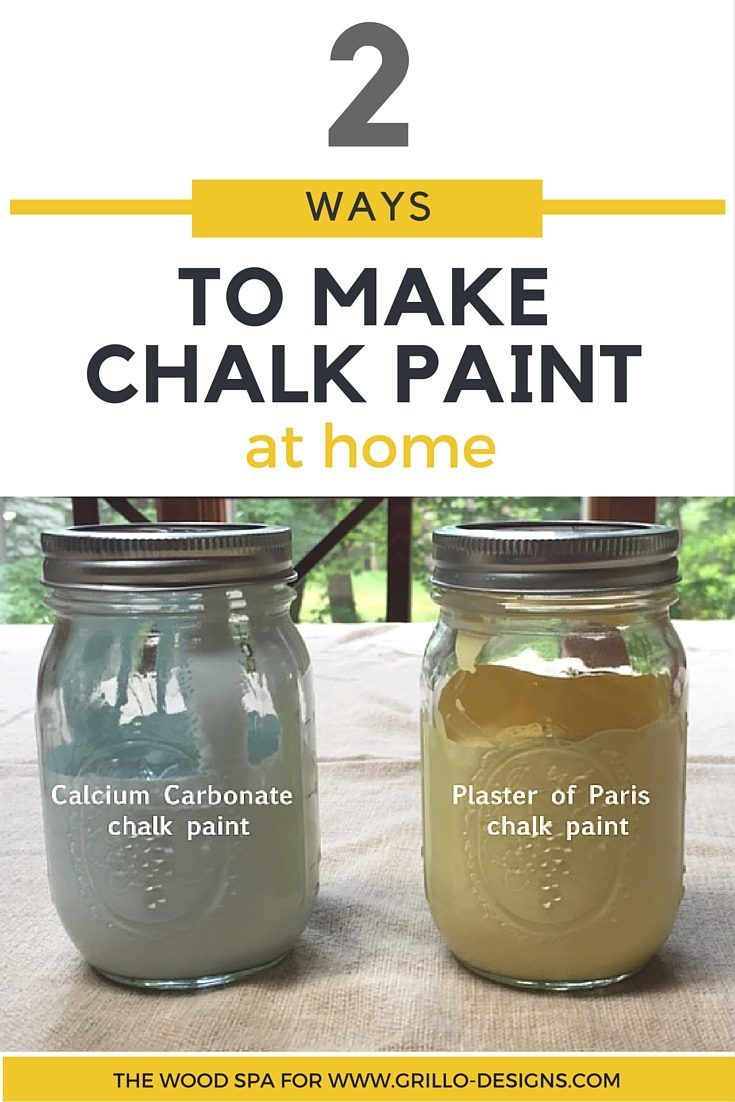 Patricia from the Wood Spa shares 2 ways to make Homemade Chalk Paint. The first with calcium carbonate and the second with Plaster of Paris! Click here to view her full tutorial and watch her video tutorial on how to make homemade chalk paint