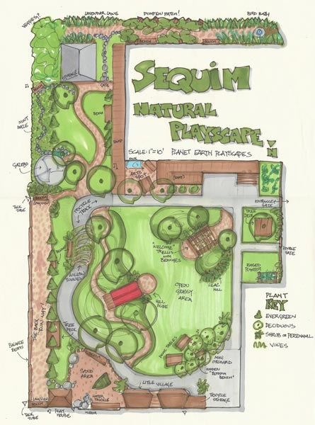 Master Plans Playground Design Preschool Garden