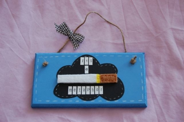 Handmade 'The Fault in our Stars' 'TFIOS' inspired 'It's a metaphor' Sign £7.99