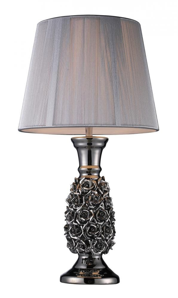 Solid crystal table lamp with floral design product table lamp construction material solid crystal color alisa silver features contemporary style will