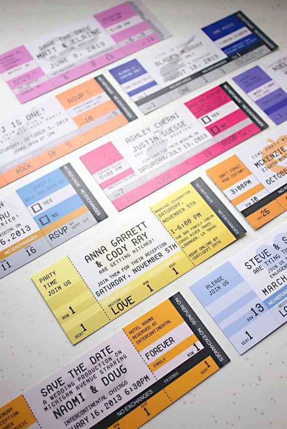 40 best Invitations images on Pinterest Concert tickets, Wedding - concert ticket invitations