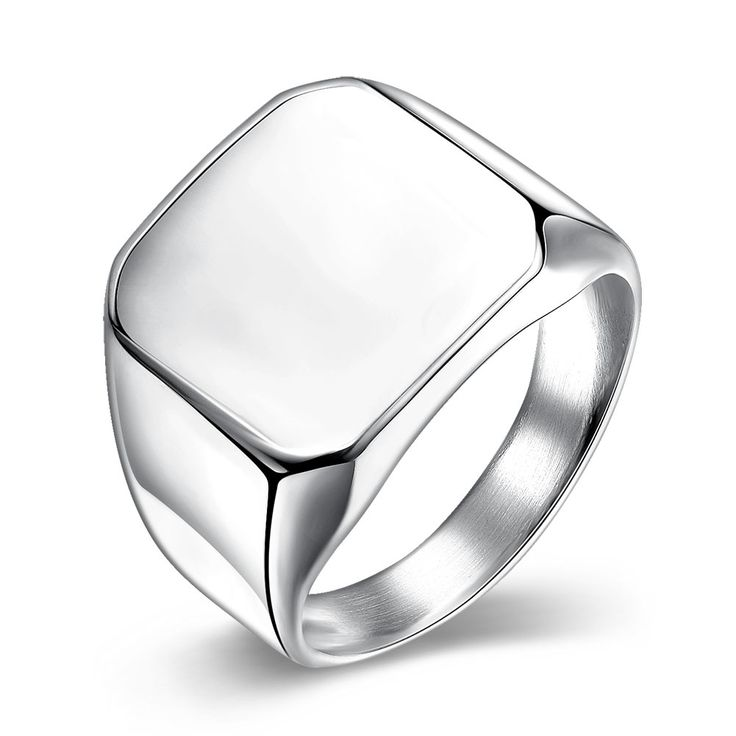 Trendy Platinum Plated Geometric Ring for Men SSTR025