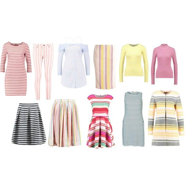 love stripes for spring type of beauty by colour-code on Polyvore featuring moda, Pepe Jeans London and Anna Field