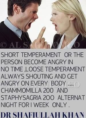 Loose Temperament (Always shouting and getting angry)