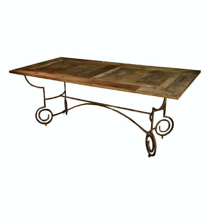 Wrought iron table legs sofasteel table awesome metal for Square iron table legs