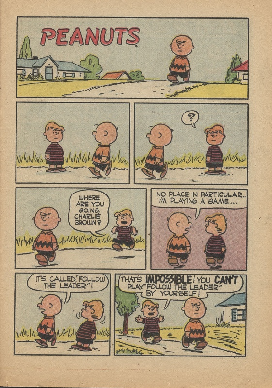 Follow the Leader, Charlie Brown! Click to read.
