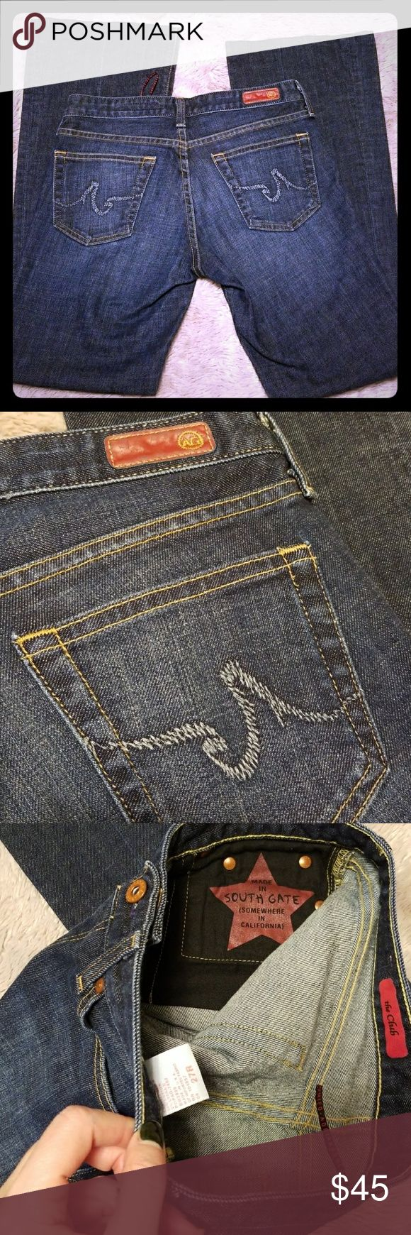 """AG Adriano Goldschmied the Club size 27 Excellent used condition! When laid flat:  Waist: 14.5"""" Rise: 7.5"""" Inseam: 30.25"""" Make an offer,  feel free to ask any questions prior to bidding! Anthropologie Niemen Marcus Ag Adriano Goldschmied Jeans"""