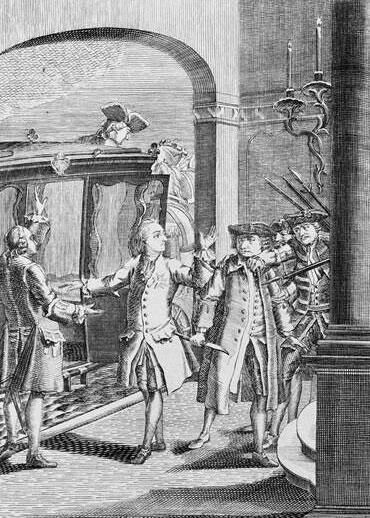attentat de Robert Francois Damiens sur Louis XV 5 janvier 1757