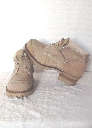 À vendre sur #vintedfrance ! http://www.vinted.fr/chaussures-femmes/autres-chaussures/52660028-chaussures-a-lacets-femme-gabard-cuir-beige-39