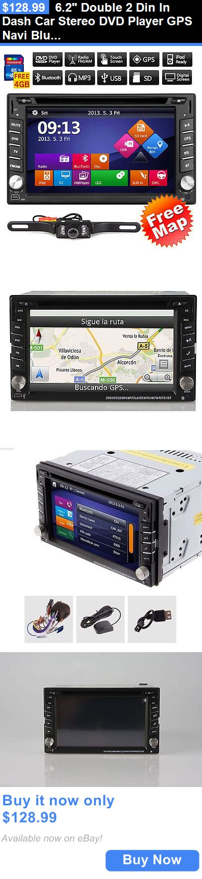 Vehicle Electronics And GPS: 6.2 Double 2 Din In Dash Car Stereo Dvd Player Gps Navi Bluetooth+Backup Camera BUY IT NOW ONLY: $128.99