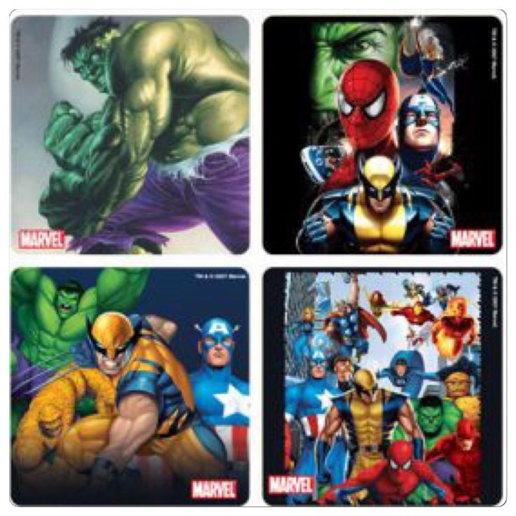 Marvel Avengers Stickers x 8 - Favours -Hulk, Wolverine, Thor, Captan America
