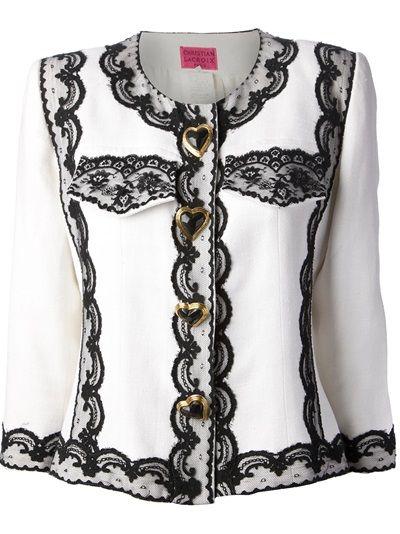 CHRISTIAN LACROIX VINTAGE - lace trim jacket 6