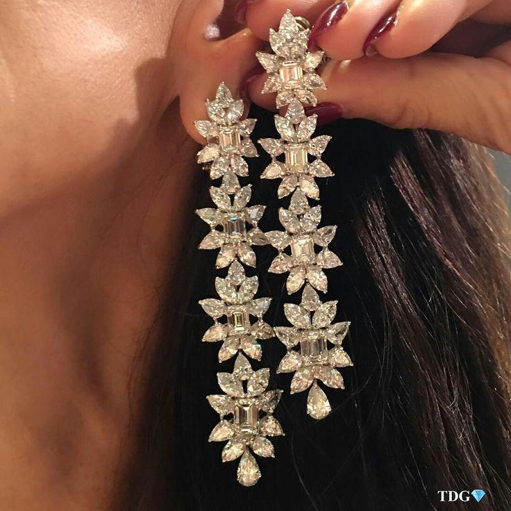 @the_diamonds_girl   From- @YAFASIGNEDJEWELS  Diamond earrings