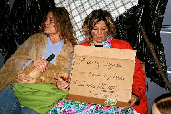 So who do employees of New York's biggest firm dress as at their Halloween party?  Homeless people.