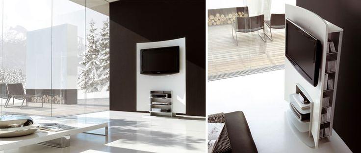 Mobile porta tv dal design particolare n.02 | Arredare living ...