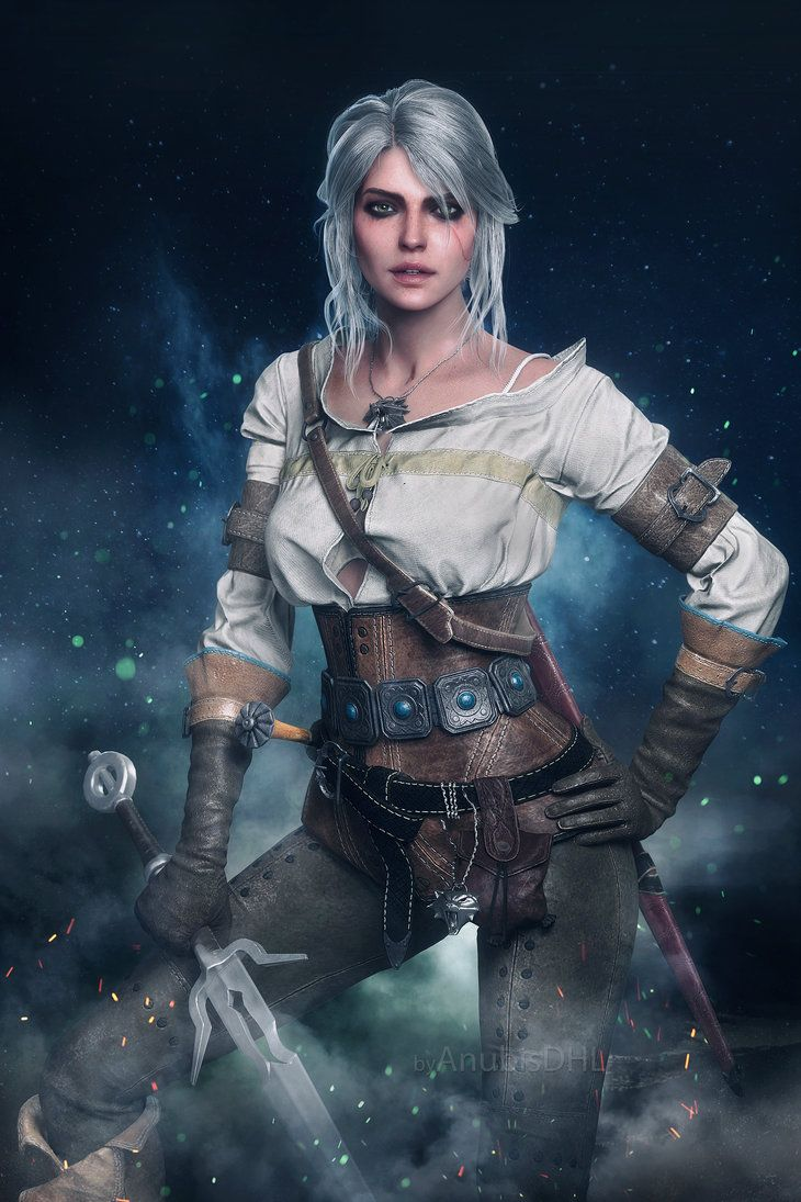 Another image of Ciri from The Witcher 3 ... Hope you like it! OTHER : fav.me/d99hie7 XPS MODEL + 3d Max/Vray + Photoshop Model by Sticklove © CD Project