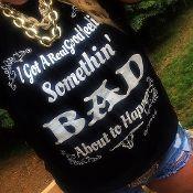 """Somethin' Bad"" burn out tee from www.rebelheartsco.com! Country Apparel! Miranda Lambert, Carrie Underwood"