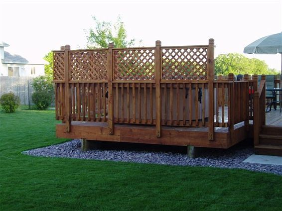 Privacy deck 2 for the home pinterest for Install lattice privacy screen