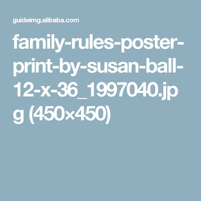 family-rules-poster-print-by-susan-ball-12-x-36_1997040.jpg (450×450)