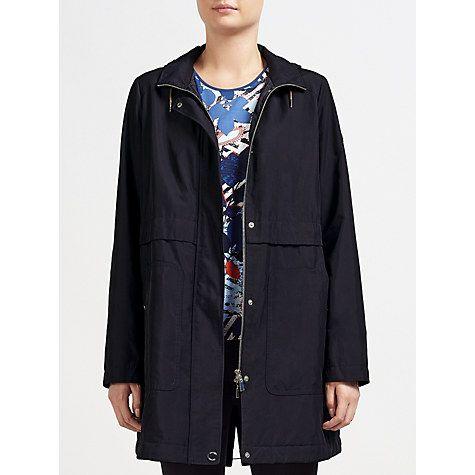 Buy Gerry Weber Water Repellent Hooded Coat, Navy Online at johnlewis.com