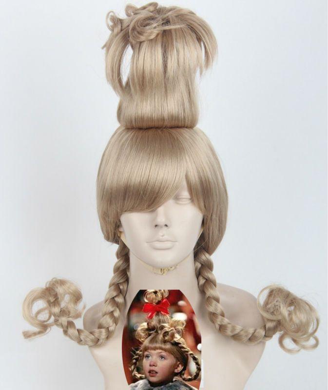 Pas cher Cos U Comment le Grinch A Volé Noël Dr. Seuss Cindy Lou Qui Halloween Costume Cosplay Parti Perruques, Acheter  Perruques de qualité directement des fournisseurs de Chine: