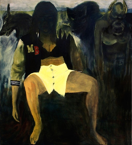 """""""Varulvarna"""", Oil on canvas, 140x150, 2008 Sara-Vide Ericson"""