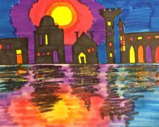 4th-5th grade A2R project: Cityscapes. Buildings will be inspired by famous architecture all over the world. Go to the 4th-5th Board for more information!