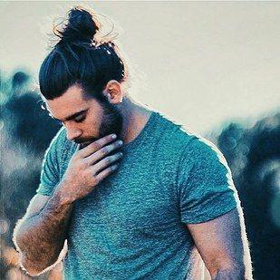 The magnificent man bun specimen Brock O'Hurn. | 23 Beard And Man Bun Combinations That Will Awaken You Sexually