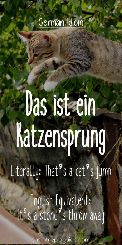 German Idioms Das ist ein Katzensprung