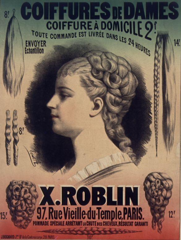Coiffures De Dames Gallica Coiffure Hairdressing Affiche Poster Affiche Affiches Retro Affiche Vintage