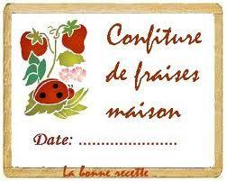 Confiture de fraises maison tiquettes pinterest - Confiture de fraise maison ...