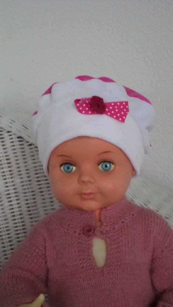 bonnet béret chapeau  bébé  fille  lin eva kids  velours  rose et blanc collection  automne hiver création lineva cadeau bébé fille e5d6b4ae7fc