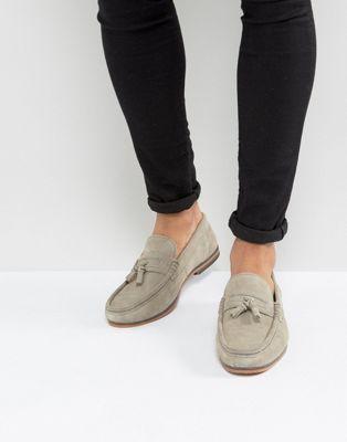 ASOS – Graue Wildleder-Loafer mit Quasten