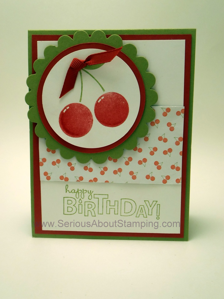 Cherry scented birthday card by Charmaine