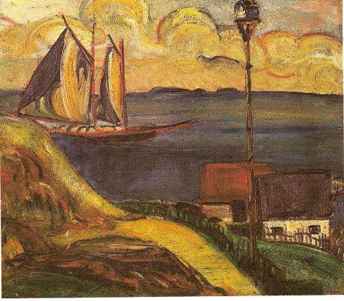 The boat, Anita Malfatti, 1915. Anita Malfatti (1889-1964)was one of the most importante Brazilian painters. More infomartion about Anita Malfatti: