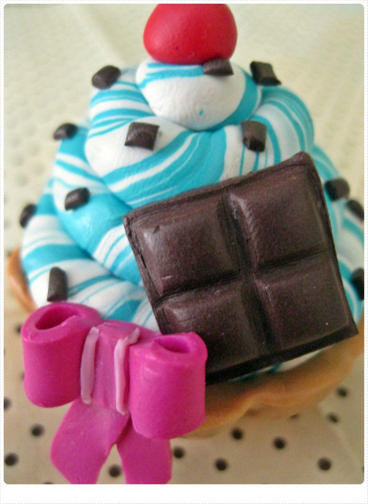 Cupcake de Choco Blue