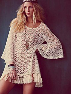Daisy Tunic: Minis Dresses, Minis Dog Qu, Dresses Tops, Coverup, Vintage Hippie, Dresses Shirts, Free People, Hippie Boho, Covers Up